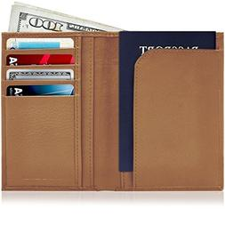 Passport Holder Cover Travel Wallet - Genuine Leather Passpo