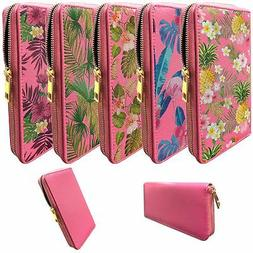 Pink Wallet for Women   Clutch Wallet for Girls with Tropica