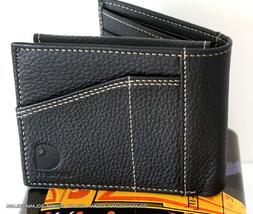 CARHARTT Pocket Passcase Bifold Leather Wallet Credit Card H