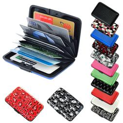 Pocket Waterproof Business ID Credit Card Wallet Holder Alum