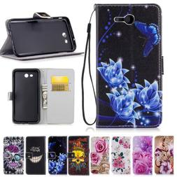 PU Leather Stand Phone Case Card Wallet For Samsung Galaxy J