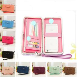 Purses For Women Stylish New Snap-on Cute Bow Pattern Long Z