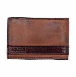 Fossil Quinn Money Clip Brown Bifold ML3650