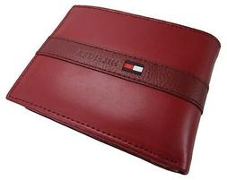 16pc Tommy Hilfiger Ranger Red Leather Passcase Billfold Men