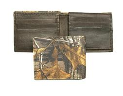 Realtree Camo Billfold Wallet - Nylon Exterior and Leather I