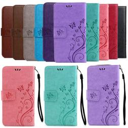 Retro Leather Wallet Butterfly Stand Case Cover For iPhone 8