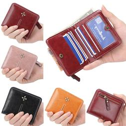 Retro Women Wallet PU Leather Mini Purse ID/Credit Card Hold