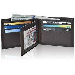 Clifton Heritage RFID Bifold Leather Wallets for Men - Handm