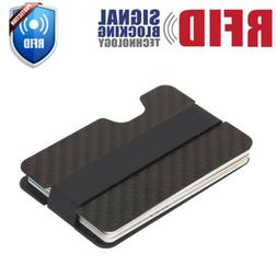 RFID Blocking Carbon Fiber Money Clip Slim Mens Minimalist W