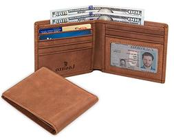 Lositto RFID Blocking Genuine Leather Wallet for Men-Excelle