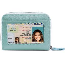 RFID Blocking Leather Wallet for Women,Excellent's Genuine C