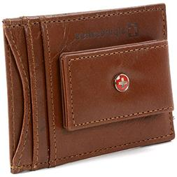 Alpine Swiss RFID Blocking Men's Magnetic Money Clip Leather