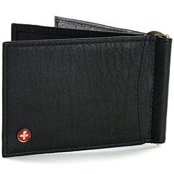 Alpine Swiss RFID Blocking Men's Money Clip Deluxe Spring Lo