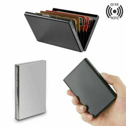 RFID Blocking Men's Aluminum Metal Credit Card Holder Pocket