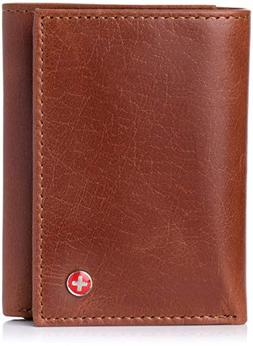 Alpine Swiss RFID Blocking Mens Wallet Extra Capacity Multi