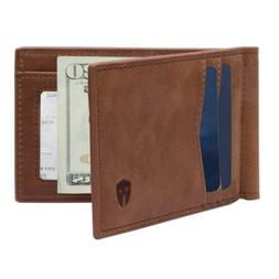RFID Blocking Slim Minimalist Front Pocket Wallet Money Clip