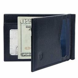 RFID Blocking Slim Minimalist Front Pocket Wallet,