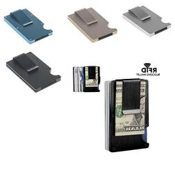RFID Blocking Slim Money Clip Wallet Credit Card ID Holder T