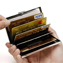 RFID Blocking Stainless Steel Credit Card Case ID Cards Hold