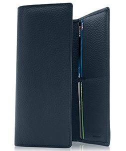 Women's RFID Blocking Wallet Trifold Leather with RFID Check