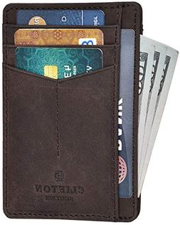 RFID Front Pocket Slim Wallets- Genuine Leather Handmade Min