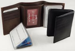 RFID Mens Trifold Wallet - Scan Proof, Wallet Insert, Multi