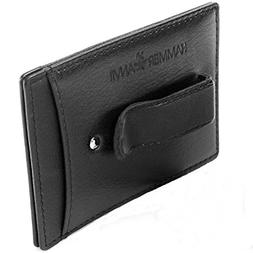 Hammer Anvil RFID Protected Leather Money Clip Minimalist Sl