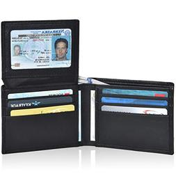Clifton Heritage RFID Slim Wallet Bifold for Men- Genuine Le