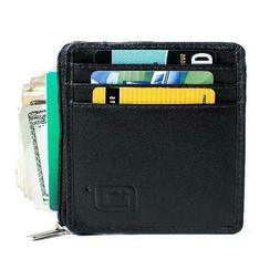 ID Stronghold RFID Wallet Mini for Men and Women - Genuine L