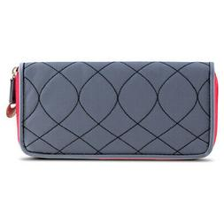 Travelon SafeID Hack-Proof Embroidered Ladies RFID Wallet -