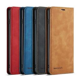 For Samsung Galaxy S10 Plus S10e Magnetic Leather Wallet Cas