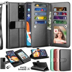 For Samsung Galaxy S20 Ultra /Plus 5G Card Leather Wallet Ca