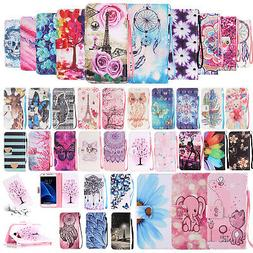 For Samsung J3 J5 J7 Prime Painted Magnetic Leather Wallet S