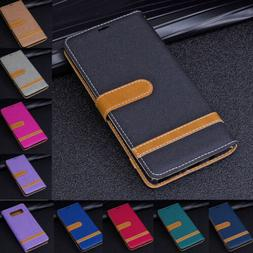 For Samsung S10e Plus/S9+/Note 9 Card Wallet Flip Leather St