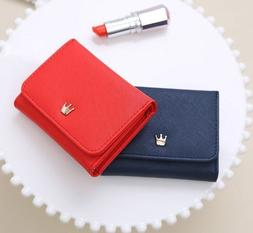 Short Wallet For Women Lady Crown Decorated Mini Money Coin