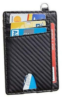 Slim Minimalist Front Pocket Wallets RFID Blocking Credit Ca