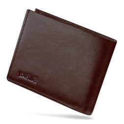 Buffway Slim Minimalist Leather Bifold Wallets for Men or Wo
