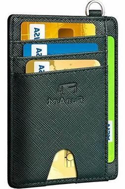 FurArt Slim Minimalist Wallet, Front Pocket Wallets, RFID Bl