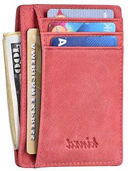 slim wallet rfid front pocket wallet minimalist