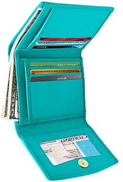 Small Leather Trifold Wallets For Women - Slim Womens Wallet