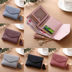 Solid Cute Wallet Women Coin Bag Case Leather Simple Bifold