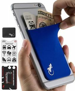 The Gecko Adhesive Card Wallet for Cell Phones, Ultra Slim &