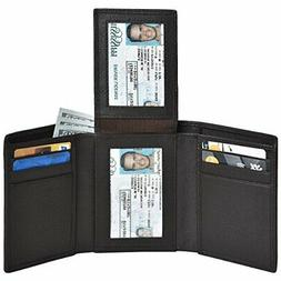Clifton Heritage Trifold Leather Wallets for Men – 2 ID Sm