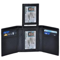 Clifton Heritage Trifold Leather Wallets for Men – 2 ID Wi