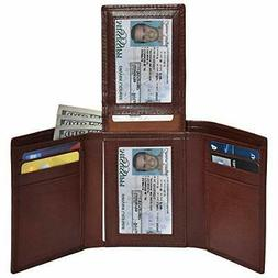 Clifton Heritage Trifold Leather Wallets for Men – 2 Small