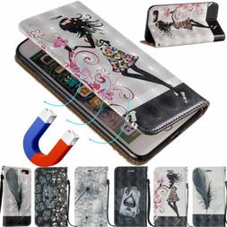 Ultra Slim Magnetic Wallet Leather Flip Case Cover For iPhon