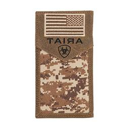 Ariat Unisex-Adult's Patriot Digital Camo Rodeo Wallet, Brow