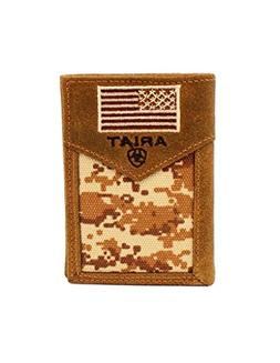 Ariat Unisex-Adult's Patriot Digital Camo Trifold Wallet, Br