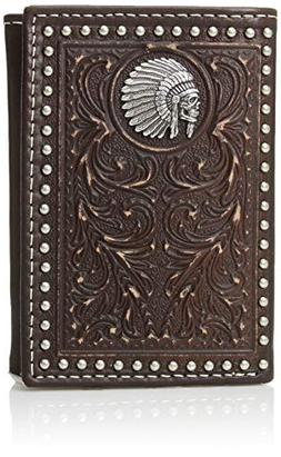 Ariat Unisex-Adult's Scroll Embosed Head Dress Trifold Walle