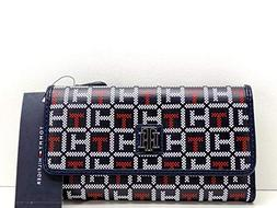 Tommy Hilfiger USA Wallet Clutch Blue Red White Logo